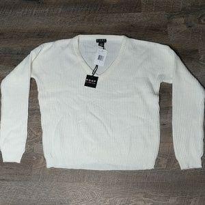 White Women's Sweater   Sz L